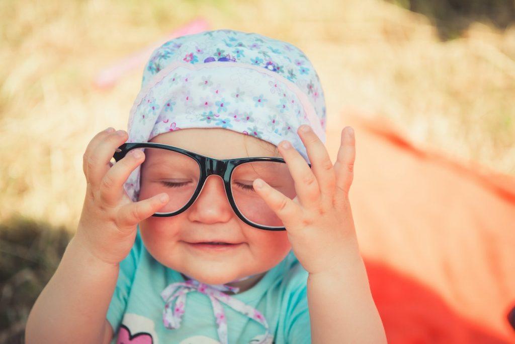 Photo d'un bébé mignon