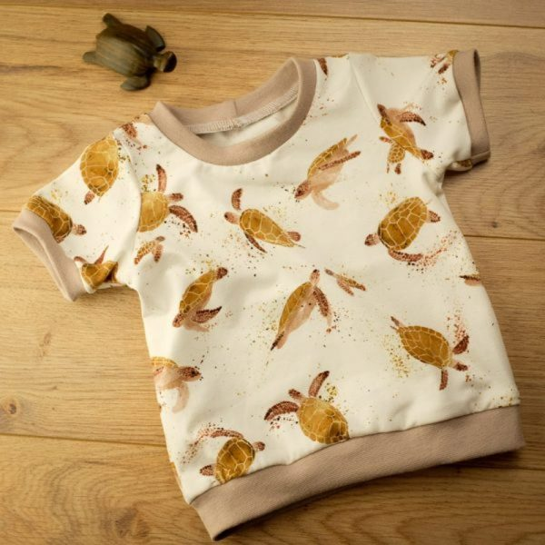 T shirt tortue bébé fait main